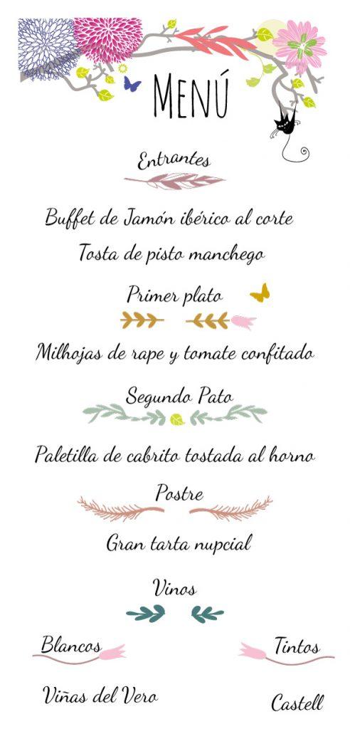 bodas menu-merlomedia