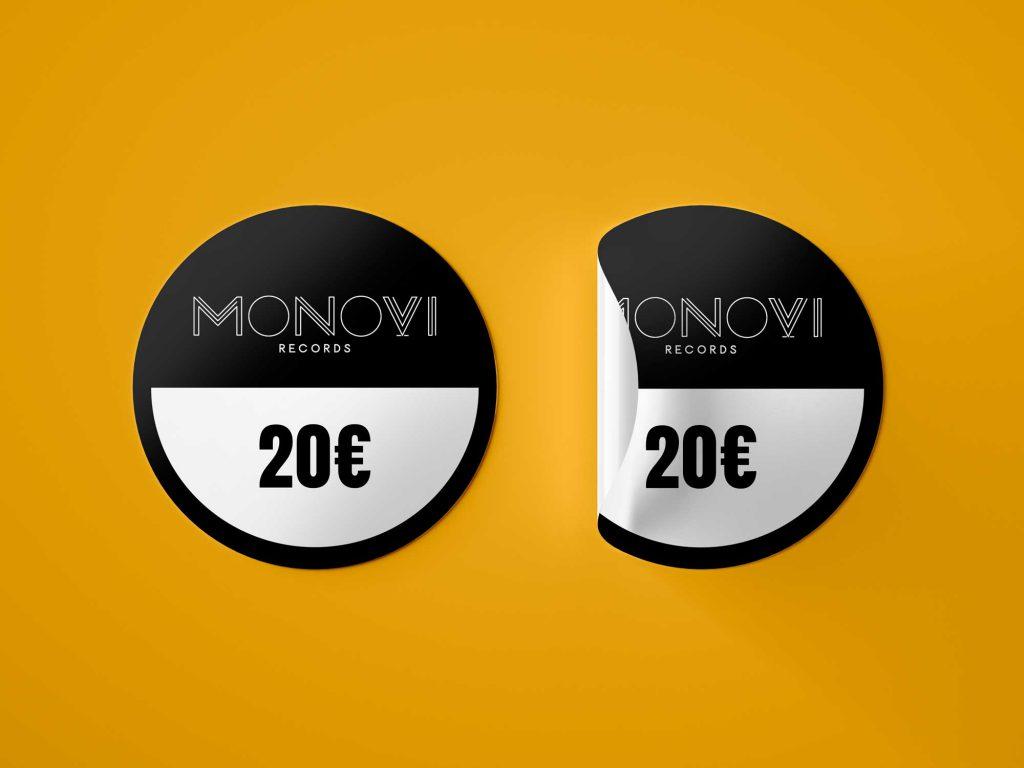 Etiqueta de precio monovi records